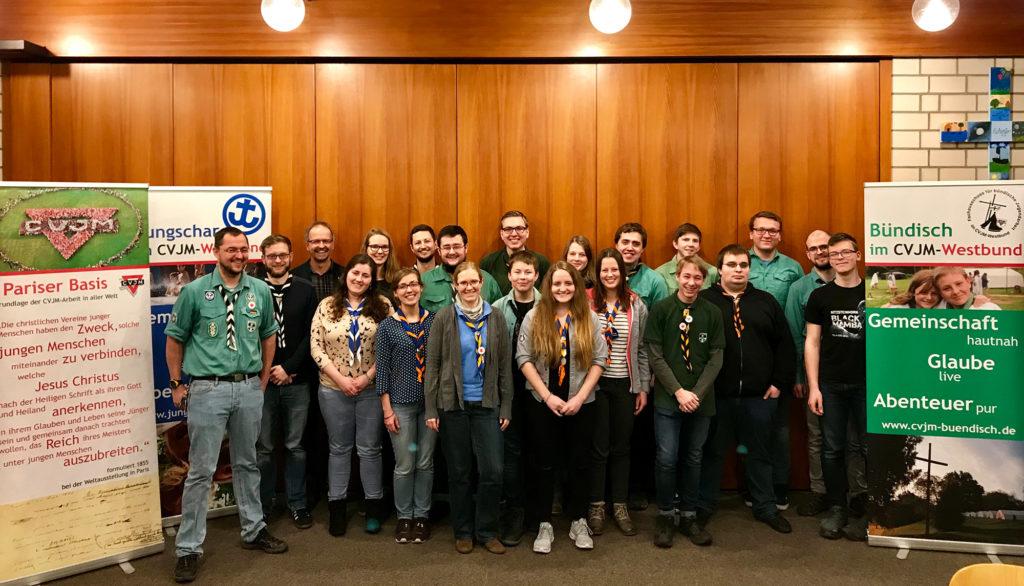 Foto der Teilnehmer der Gründungsveranstaltung des CVJM Bündisch Münster e.V. im Januar 2018